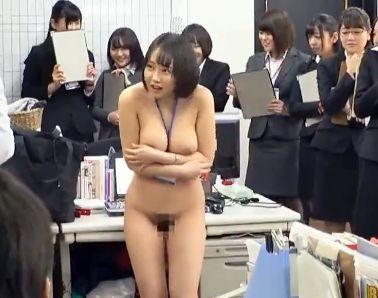 『やだぁ…全部見られてるぅ…』美人OLたちが事務所内で公開健康診断!勤務中の男性社員の前で痴態を晒す羞恥全裸!