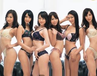 『ほらぁ!早くイキなさいよぉぉ!!』ランジェリーモデル美女6人の意地がぶつかるレズバトル!レズ乱交でイキ狂う!