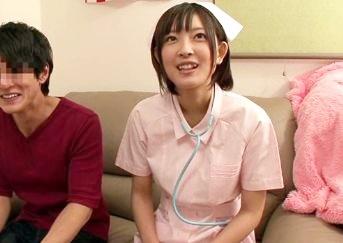 ◆小倉ゆず◆巨乳女優が素人男性のお部屋でエッチにご奉仕!看護師姿で激しくハメまくるコスプレセックス!