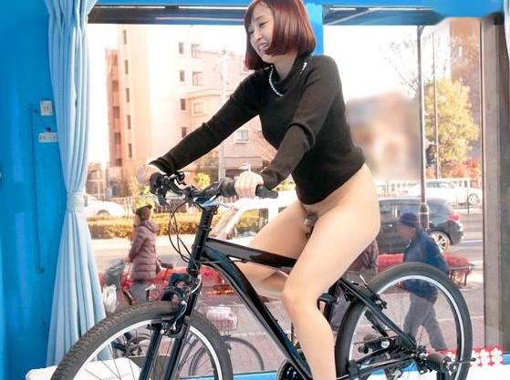 ママチャリ奥様がアクメ自転車体験!賞金に釣られて羞恥快楽に悶え狂い他人棒をブチ込まれる!