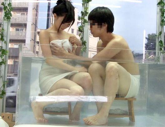 【素人企画】大学生の友達男女が初めての混浴体験!友情より性欲の2人が我慢できずに即ハメファック開始!