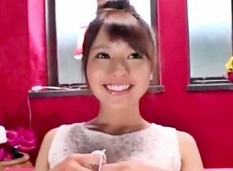 ◆河南実里◆カフェバイトの美少女店員は顔に似合わずエッチ大好き♡チンポ欲しさに3P乱交で悶え狂うAVデビュー!