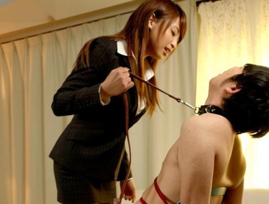 ◆秋山祥子◆巨乳お姉さんが拘束ドM男を痴女責め!淫語と凄テクでチンポを刺激して搾り取る射精管理セックス!