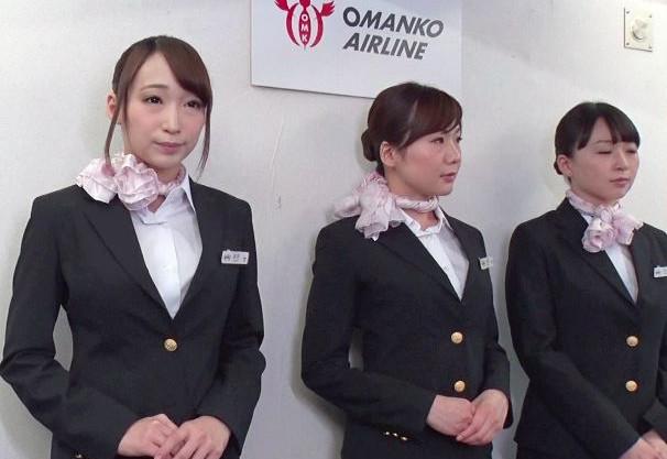 『ご自由にお使いください♡』美人CAがフライト中にお客様チンポへご奉仕♡マンコを使って性処理する機内サービス!