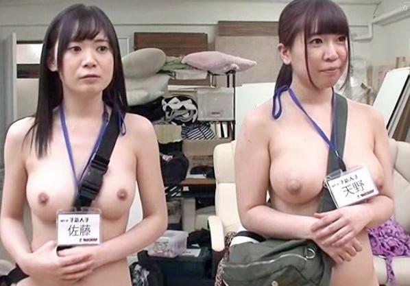 『恥ずかしいです…』撮影現場じゃ全裸が基本の新人AD美女!リハと称して男優チンポと即ハメセックスの羞恥研修!
