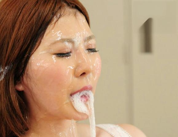 ◆仁科百華◆Jカップ爆乳おっぱいに男たちが大興奮ww美人女優の顔面や口内に次から次へと濃厚ザーメンぶっかけ!