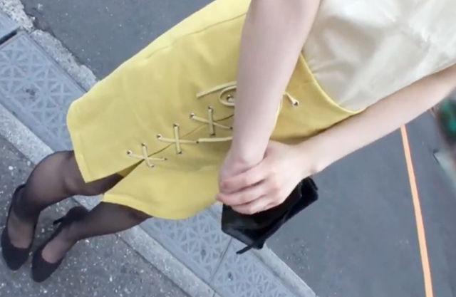 【素人ナンパ】スレンダー黒パンストのエロカワ女子大生♡敏感マンコをガン突きされて腰が止まらずイキっぱなし♡