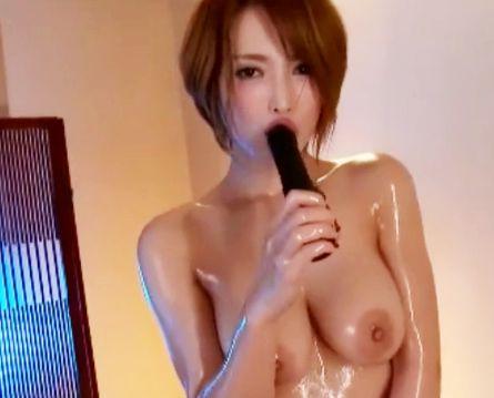 ◆君島みお◆くびれ巨乳ボディがオイルまみれでガチ悶絶♡性感マッサージで激しくイキまくるショートカット女優さん♡